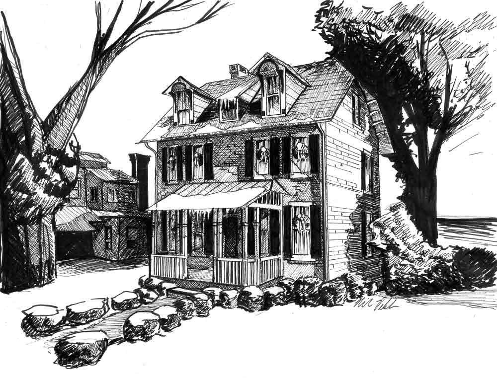 Pen House Drawing Pen And Ink Home Drawings