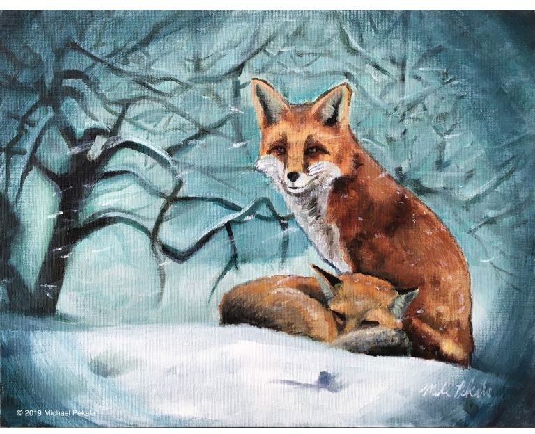 drawing_foxes_painting