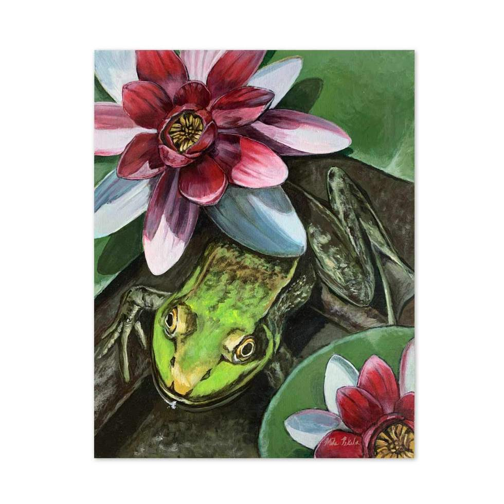 Frog Acrylic Painting